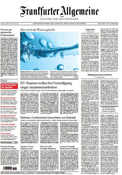 :  Frankfurter Allgemeine vom 14 November 2017