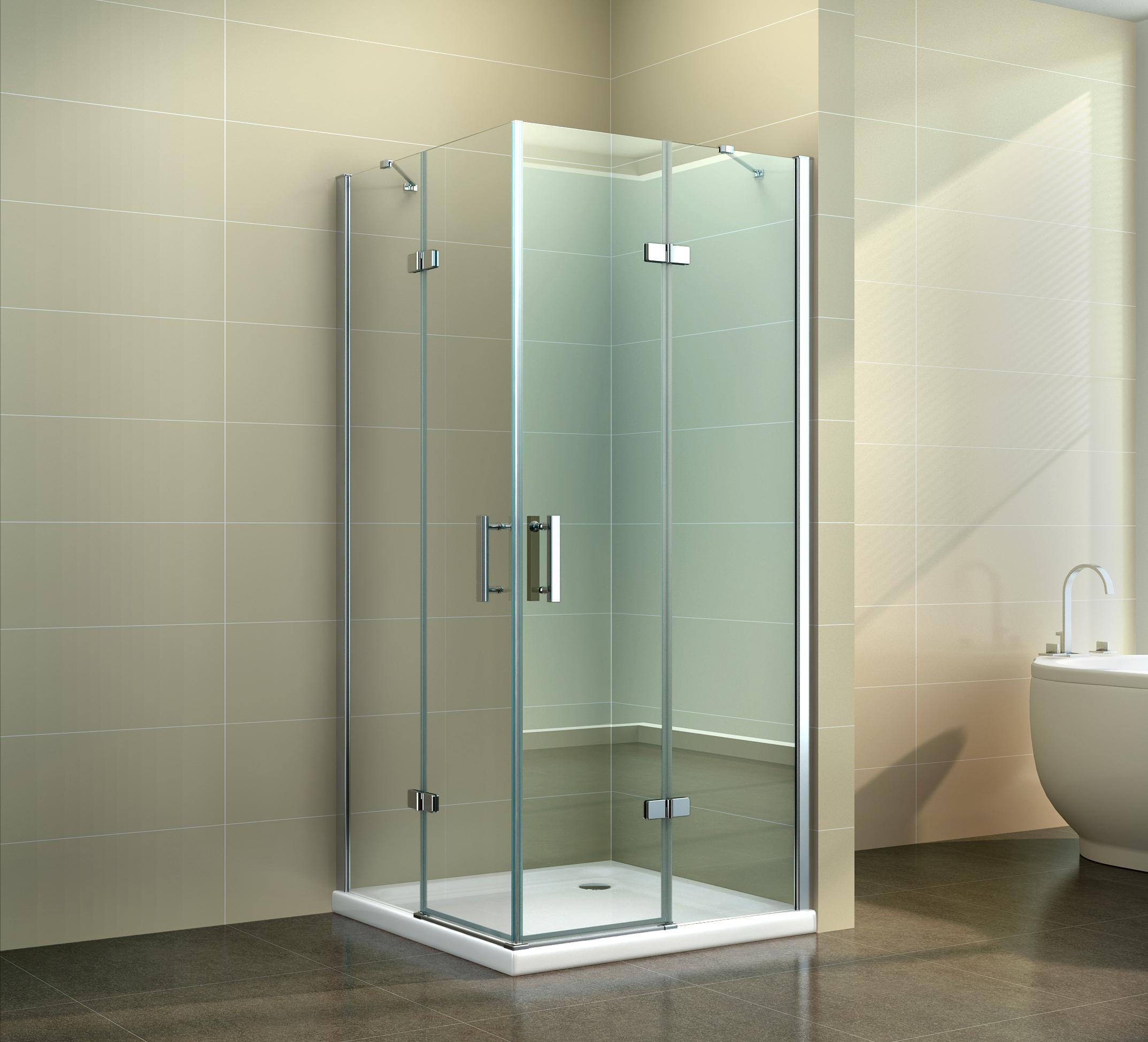 duschkabine dusche eckdusche duschabtrennung rechteck echtglas nano klarglas kaufen bei. Black Bedroom Furniture Sets. Home Design Ideas