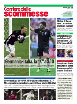 Il Corriere delle Scommesse STADIO - 01-07-2016