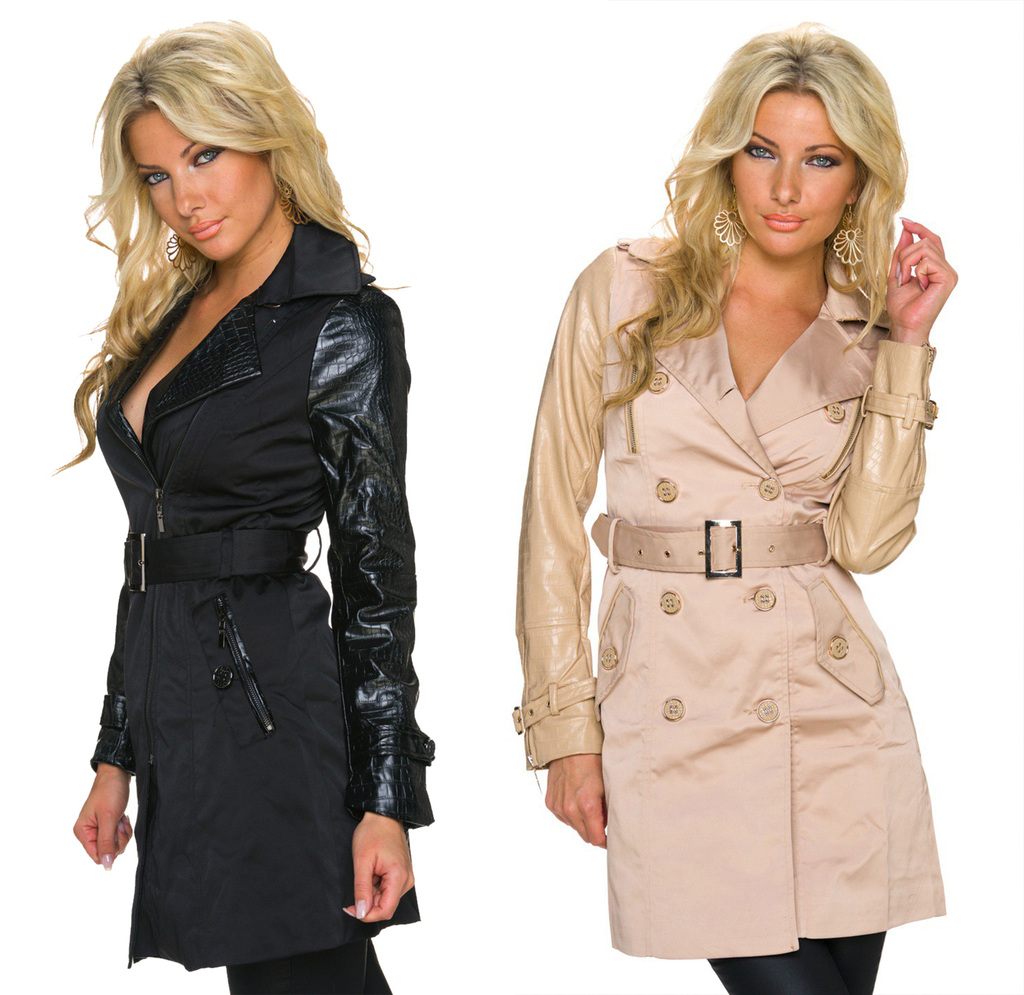 damen mantel jacke herbstjacke trench jacke schwarz beige gr s m l xl ebay. Black Bedroom Furniture Sets. Home Design Ideas