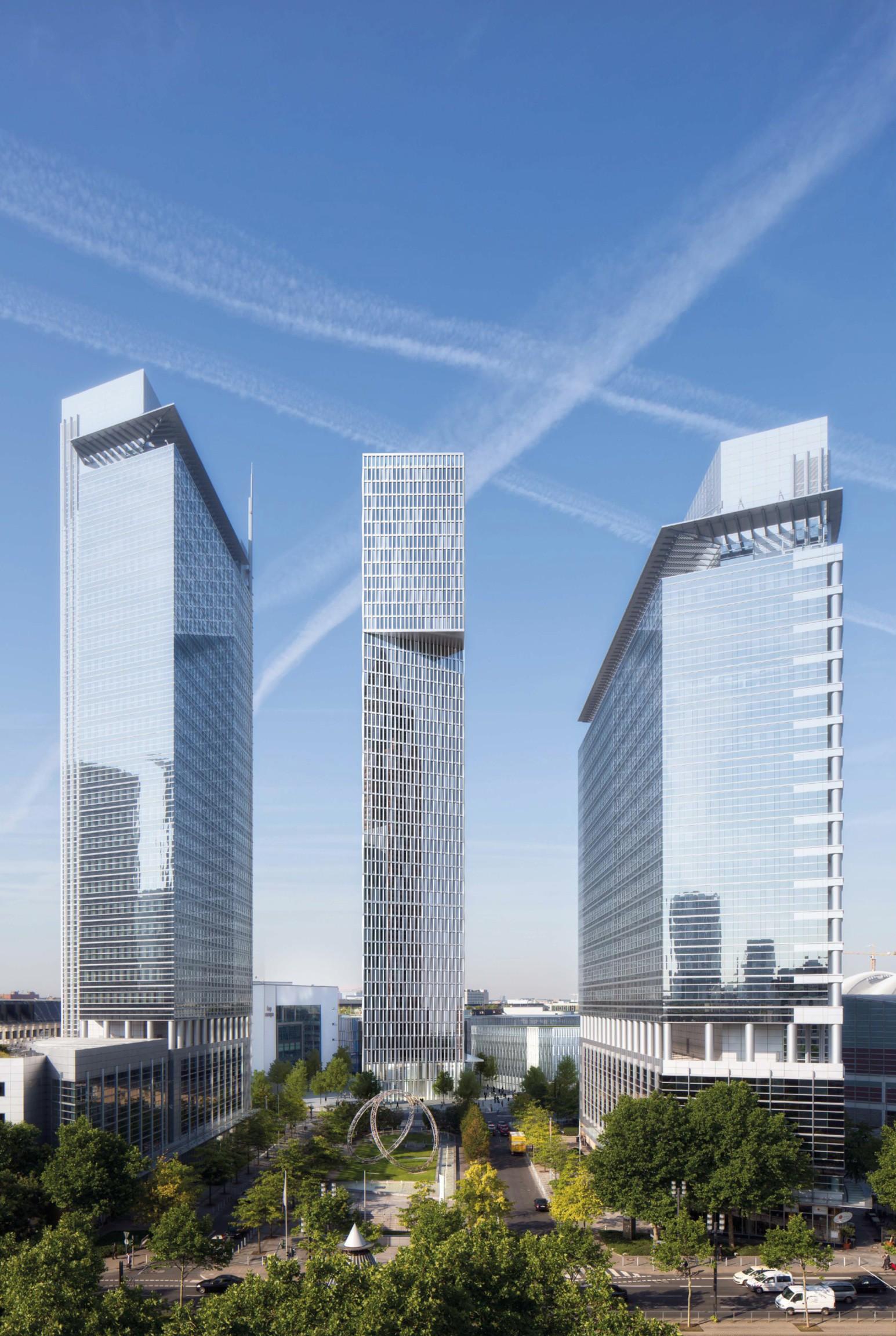 hochhauswelten frankfurt b ro und hotelhochhaus tower 1 180m. Black Bedroom Furniture Sets. Home Design Ideas