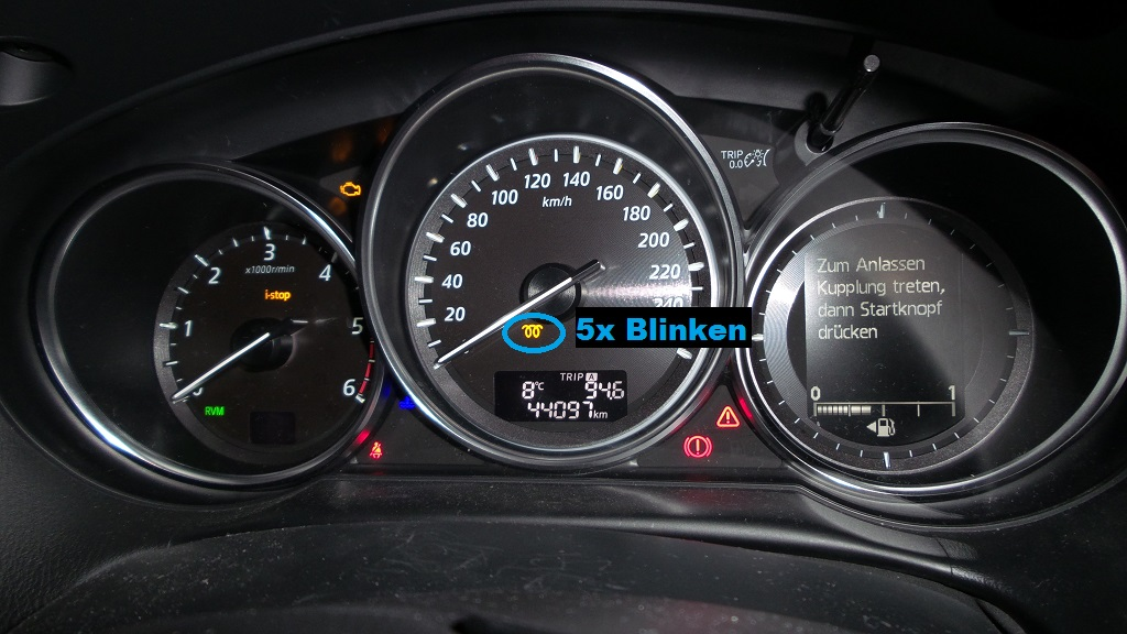 Mazda 5 dpf leuchte blinkt