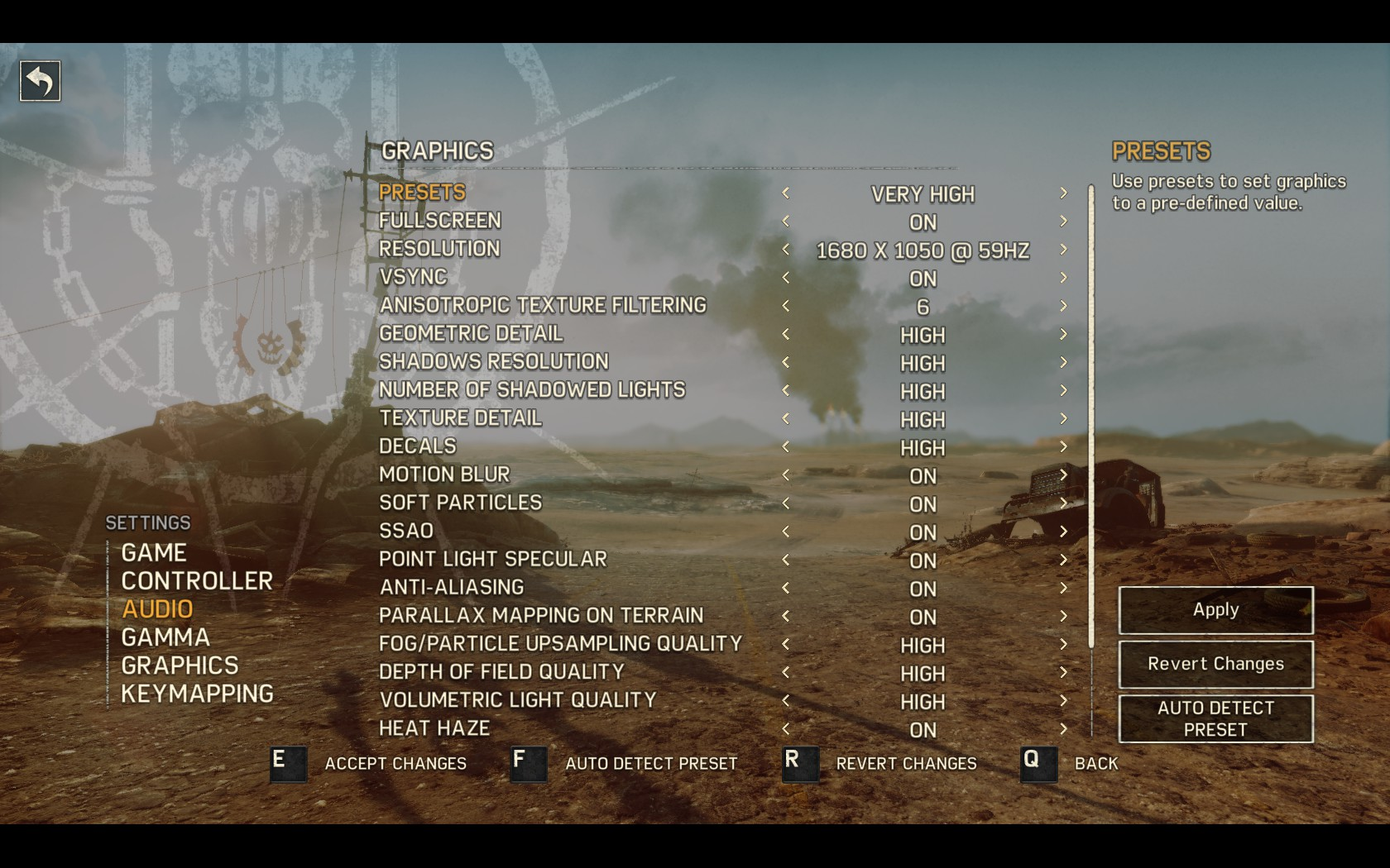 pc graphics settings revealed for mad max & metal gear solid v: the