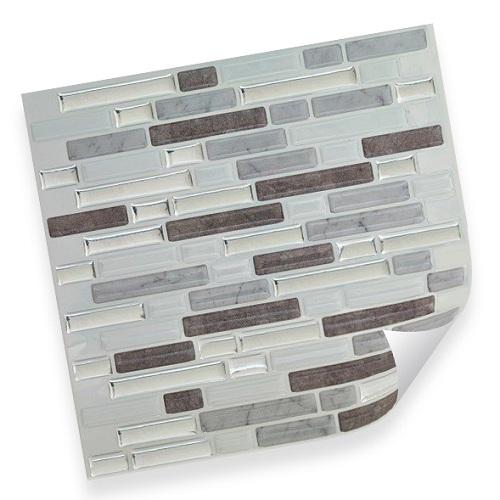 3 selbstklebende vinyl mosaik 3d fliesen cst08 wandgestaltung deko k che bad wc ebay. Black Bedroom Furniture Sets. Home Design Ideas