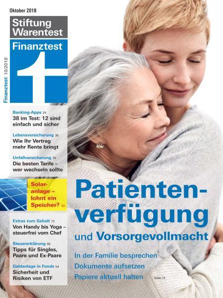 Stiftung Warentest Finanztest Magazin Oktober No 10 2018
