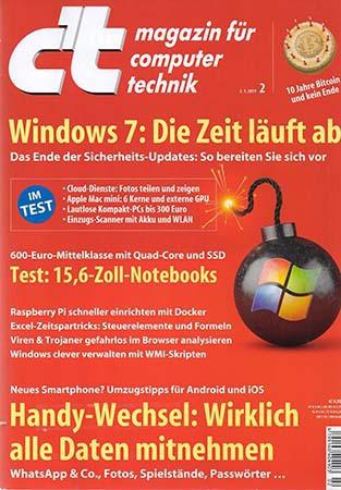 ct Magazin für Computertechnik No 02 2019