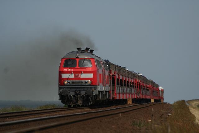 218 181-6 + 218 190-7 Hindenburgdamm
