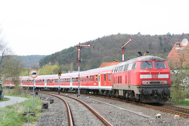 218 200-4 Ausfahrt Buchenau(Lahn)