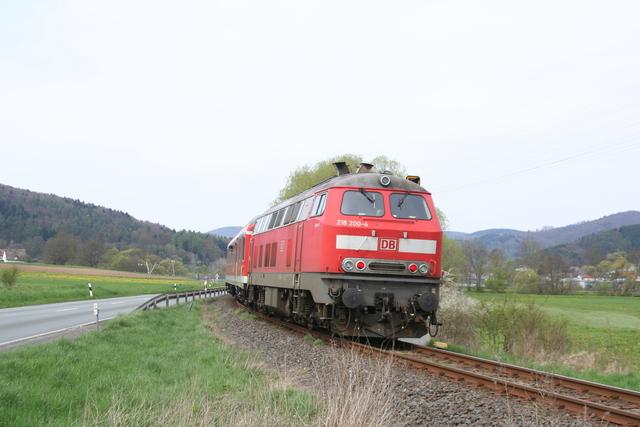 218 200-4 bei Friedensdorf(Lahn)