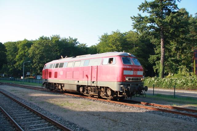 218 366-3 rangiert Seebad Heringsdorf