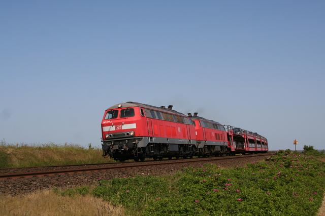 218 371-3 + 218 376-2 beim Hindenburgdamm
