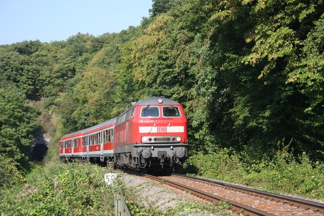218 424-0 beim Talberg-Tunnel