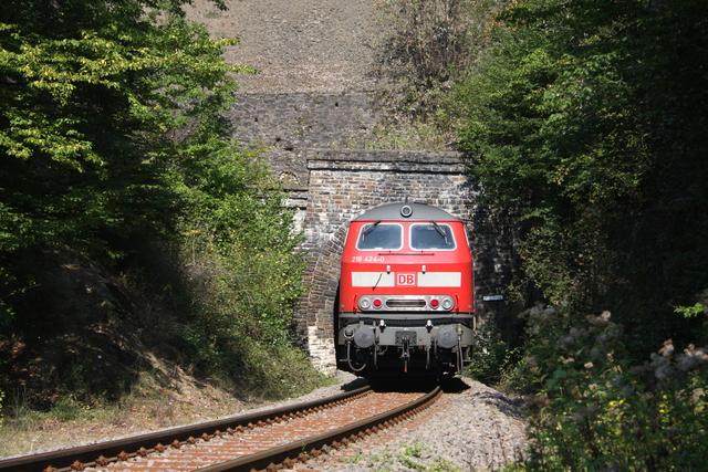 218 424-0 Einfahrt  Rauerberg-Tunnel