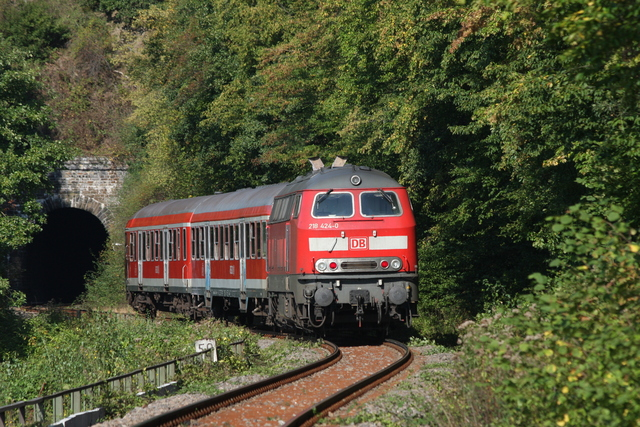 218 424-0 kurz vorm Talberg-Tunnel