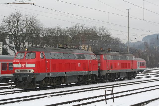 218 432-3 + 218 431-5 Ulm Hbf