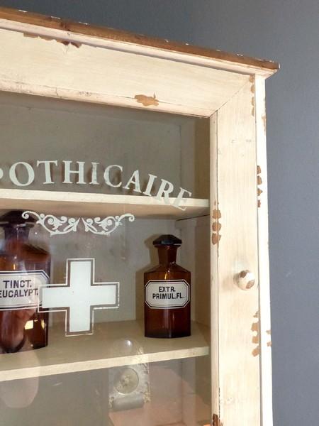 shabby chic apothekerschrank vitrine arzneischrank. Black Bedroom Furniture Sets. Home Design Ideas