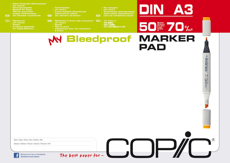 copic marker block alkohol pad a3 50 blatt 70gr manga. Black Bedroom Furniture Sets. Home Design Ideas