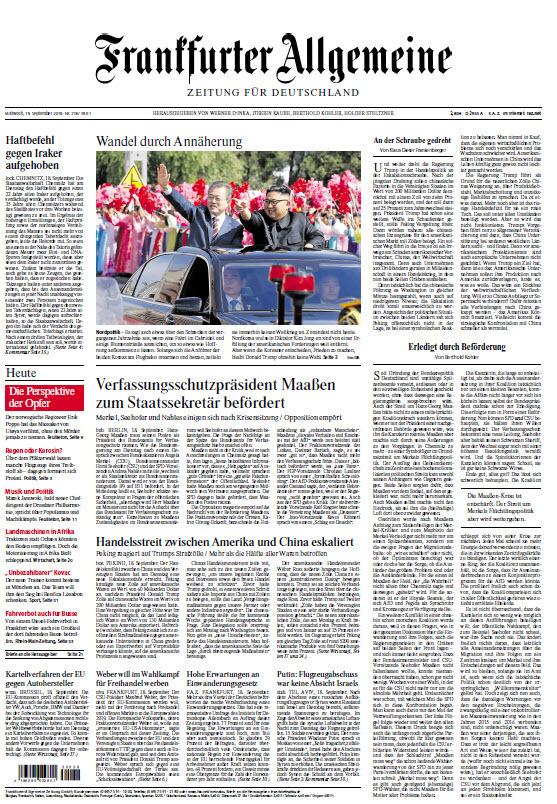 Frankfurter Allgemeine 19 September 2018