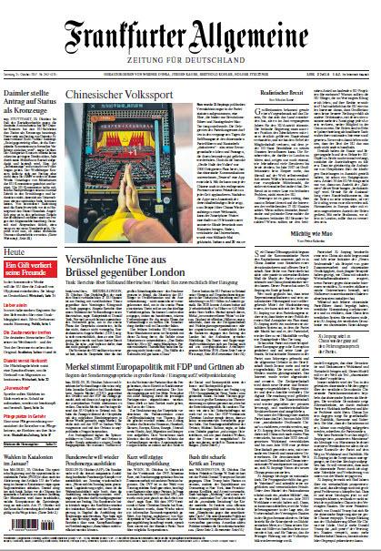 Frankfurter Allgemeine vom 21 Oktober 2017