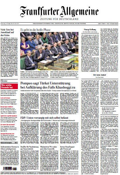 Frankfurter Allgemeine 18 Oktober 2018
