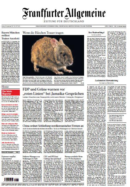 Frankfurter Allgemeine vom 29 September 2017