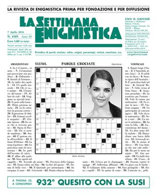 La Settimana Enigmistica n. 4385 - 7 aprile 2016