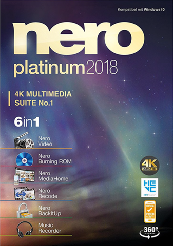 : Nero Platinum 2018 Suite v19.0.10200 + Content Pack
