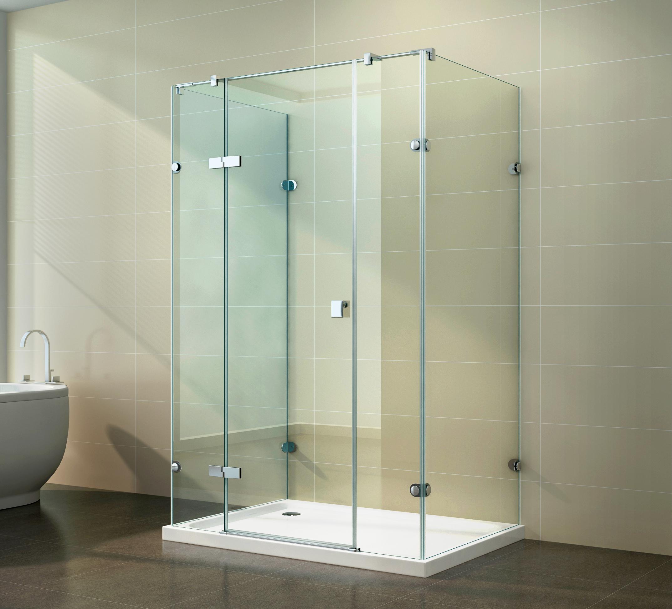duschkabine dusche u form u duschabtrennung 8mm esg nano. Black Bedroom Furniture Sets. Home Design Ideas