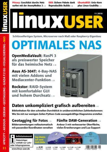 LinuxUser Magazin November No 11 2016