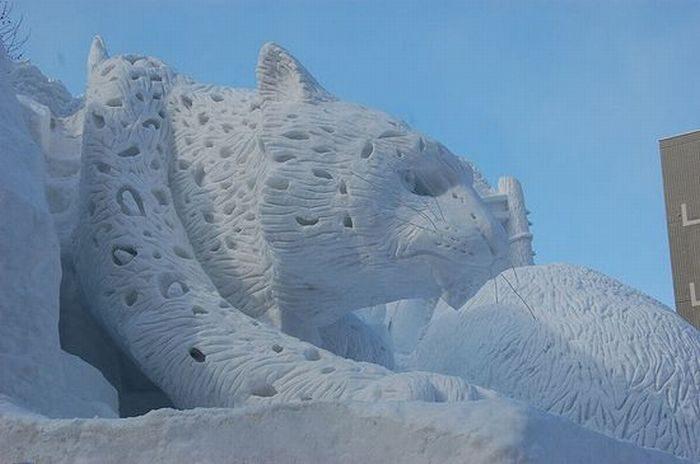 Rzeźby ze śniegu 22