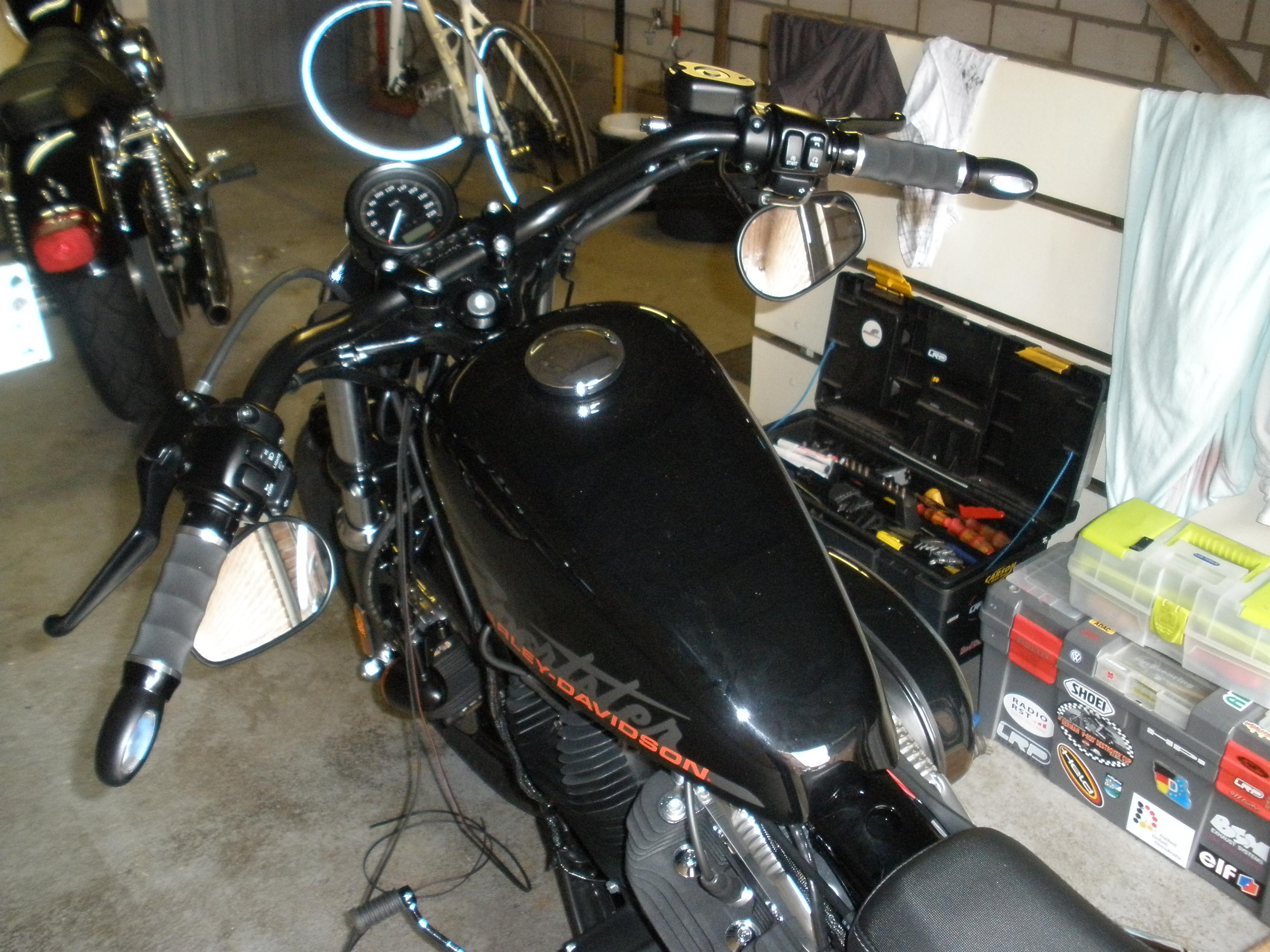 bodywork umbaubericht sportster 1200 forty eight harley davidson motorrad online24. Black Bedroom Furniture Sets. Home Design Ideas