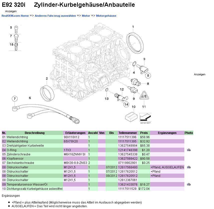 Bmw E92 320i Rote Gie 223 Kanne Wie 214 Ldrucksensor Wechseln