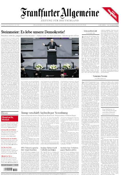 Frankfurter Allgemeine 10 November 2018