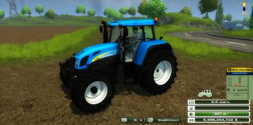New Holland T7550 (MoreRealistic) v 1.0