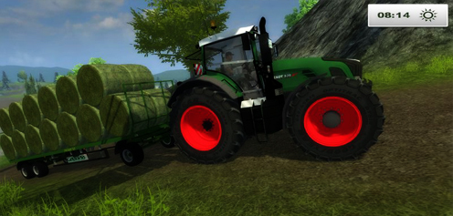 Fendt939 with baletrailer v 1.0 (Traffic)