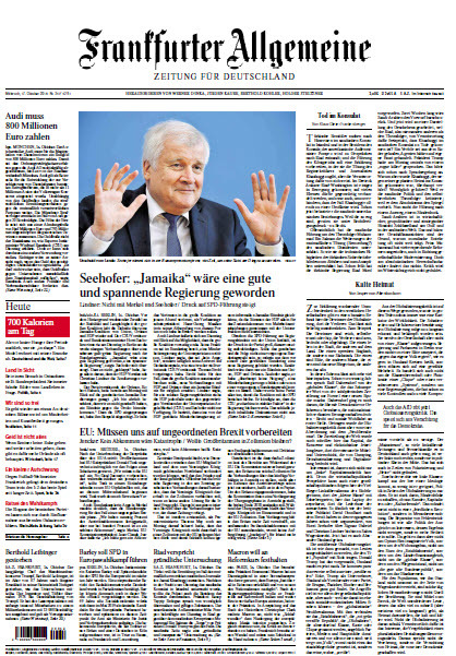 Frankfurter Allgemeine 17 Oktober 2018