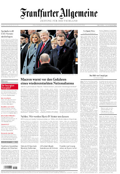 Frankfurter Allgemeine 12 November 2018