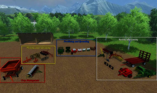 Small Farm Implement Pack v 1.0 (MoreRealistic)