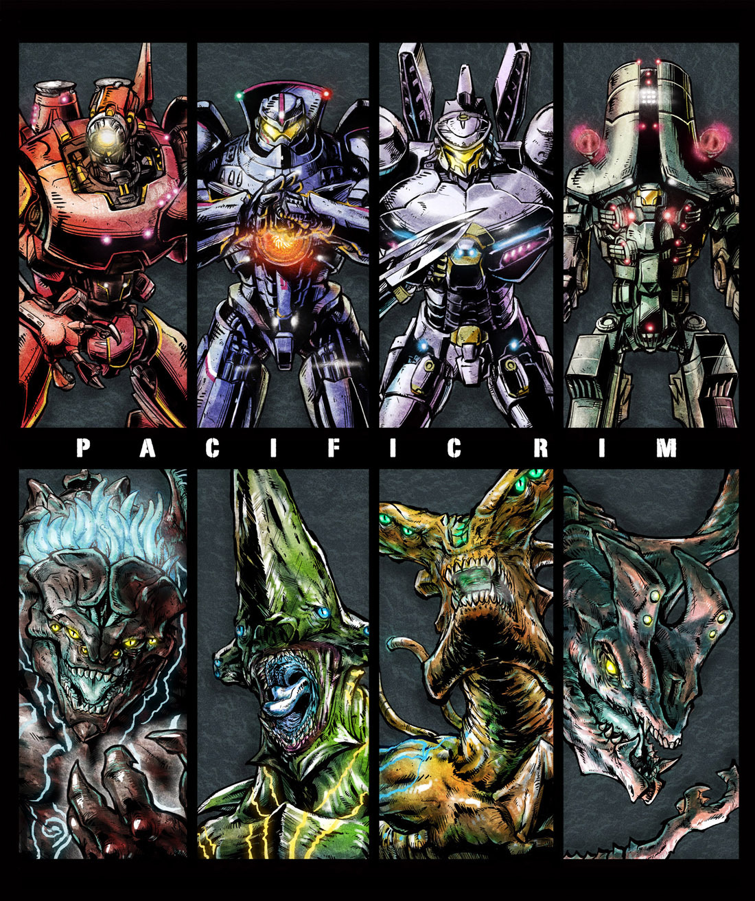 Kaiju made famous and from america face off against this team of super heroes