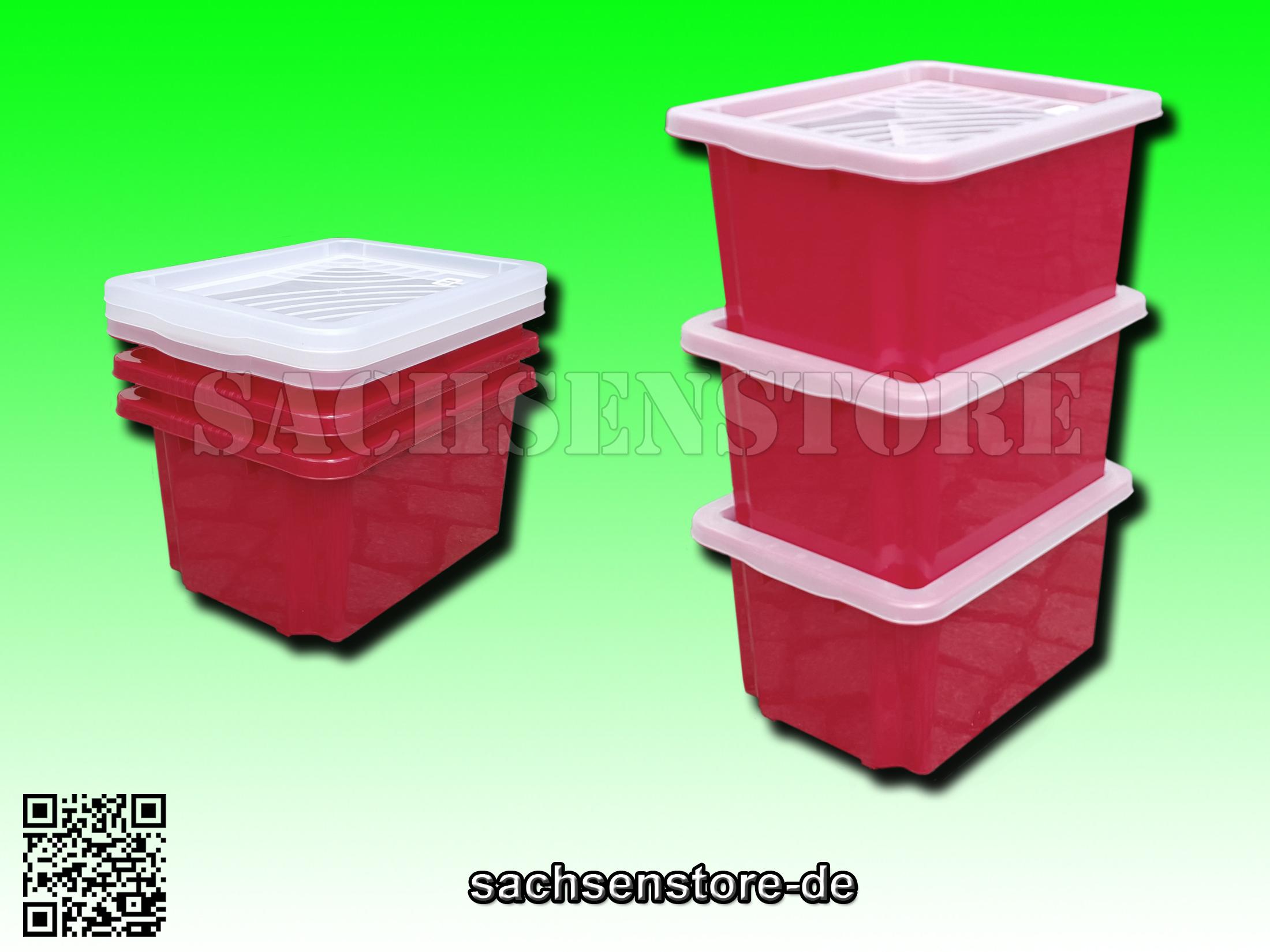 3 x drehstapelboxen stapelboxen aufbewahrungsboxen mit. Black Bedroom Furniture Sets. Home Design Ideas