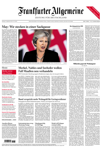 Frankfurter Allgemeine 22 September 2018