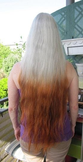Graue haare rauswachsen lassen strähnchen