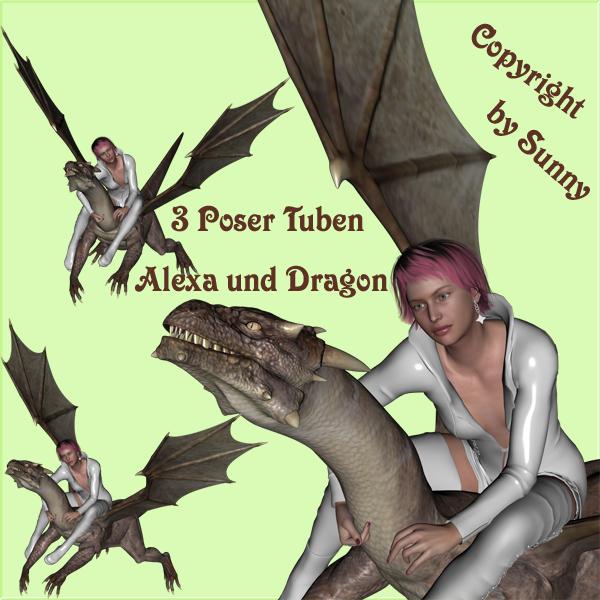 Poser Set Alexa und Drache