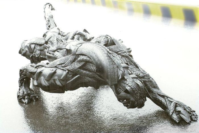 Rzeźby z opon #2 22