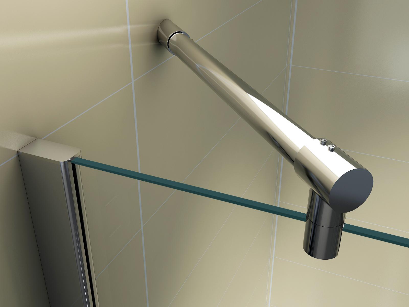 duschkabine viertelkreis duschabtrennung runddusche esg. Black Bedroom Furniture Sets. Home Design Ideas