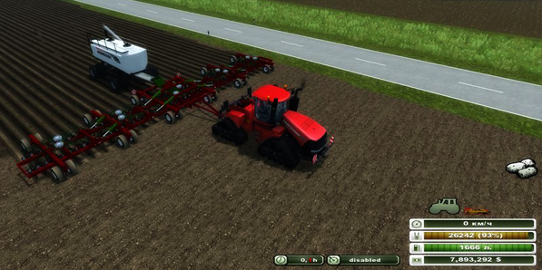 Bourgault Seeding fertilization system v 1.1.1
