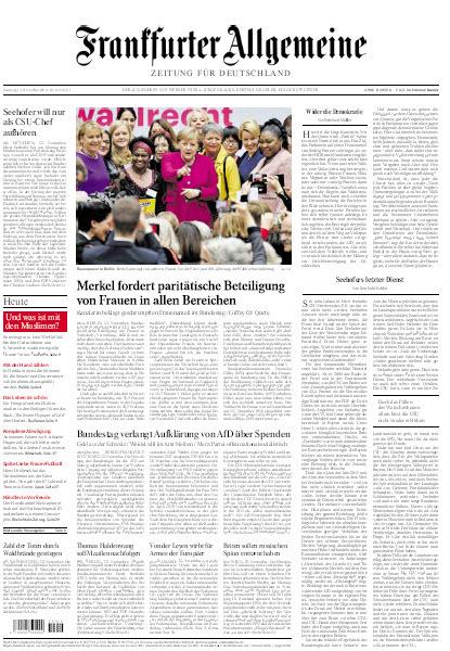 Frankfurter Allgemeine 13 November 2018