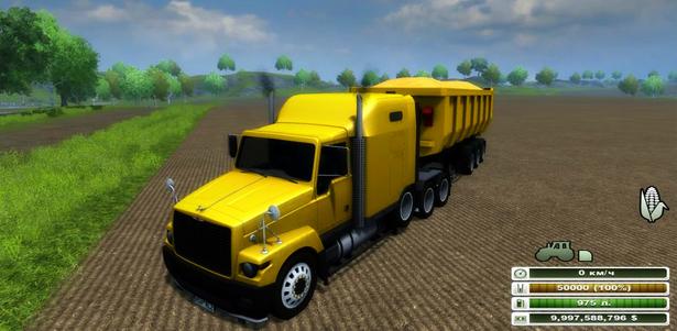 GAZ TITAN & tipper trailer v 1.0