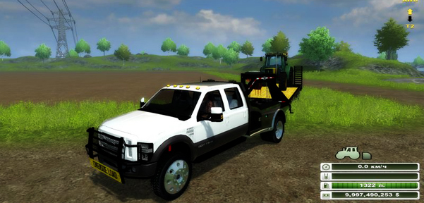 Ford Super Duty F-350 DRW Crew Cab 4×4 Flatbed v 1.0 (MoreRealistic)