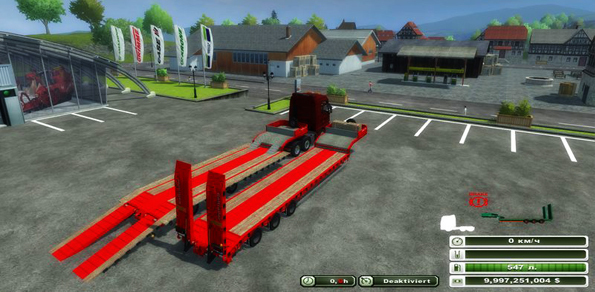 Low Loader Galtrailer Red v 1.0